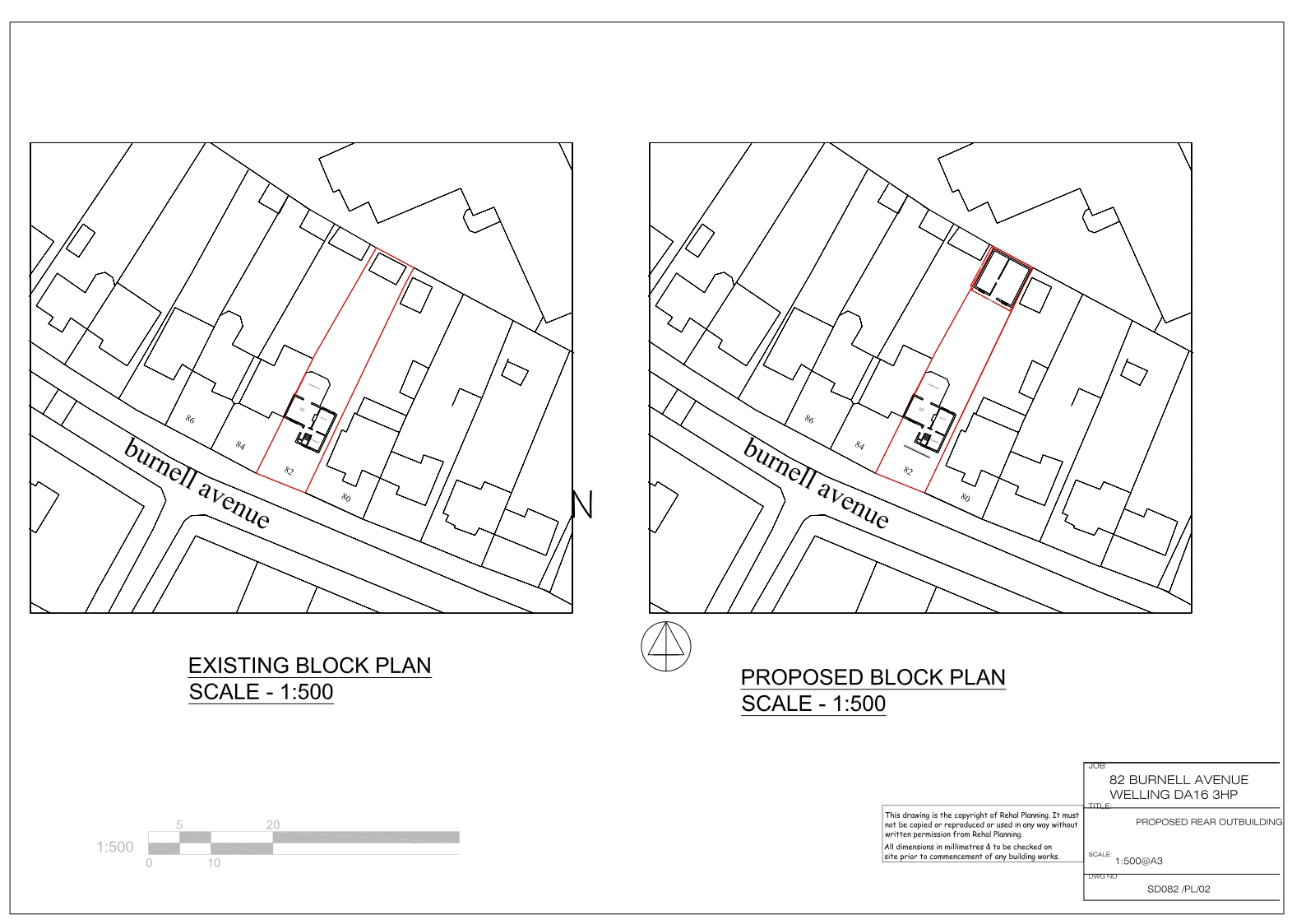 existing-and-proposed-block-plan-burnell-avenue-welling-da16